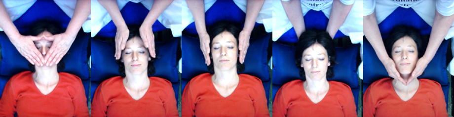 Beispiel einer Reikibehandlung im Kopfbereich