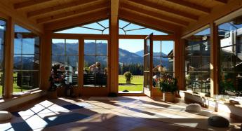 """Yoga-Wintergarten"" / Pension Fohlenhof / Pillerseetal / Tirol / Yoga mit Robert Spieß"